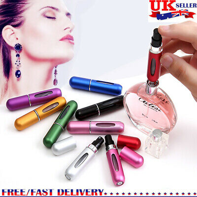 5ml Refillable Perfume Atomizer Bottle Travel Scent Pump Portable Spray Case UK