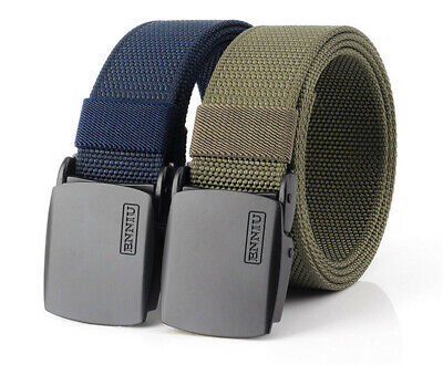 "47"" ENNIU Thick Nylon Belt Leiuure Outdoor Tactical Belt Zine Alloy Buckle Belt"