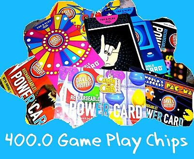 🎮 Dave and Buster's Power Card 💳 200 Chips ~ ***Tap and Play***