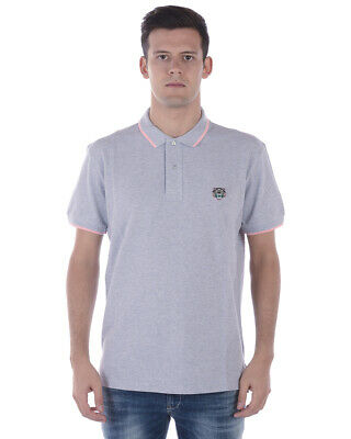 a82b5a8fc Kenzo Polo Shirt TIGER Cotton Man Grey 4BA5PO201 93PG Sz.XS MAKE OFFER