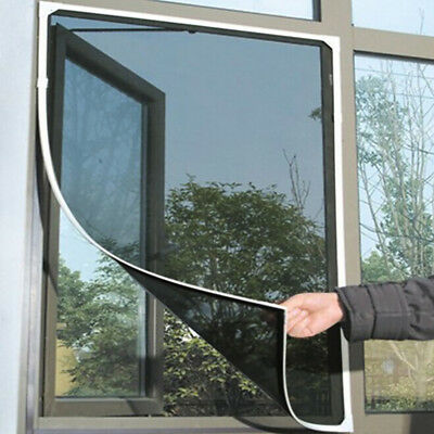 Magnetic Window Mesh Door Curtain Snap Net Mosquito Fly Bug Insect Screen
