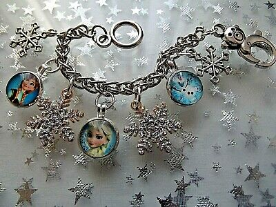 Frozen  Elsa And Anna Princess Charm Adjustable Bracelet Gift Box 2 To 4 Years
