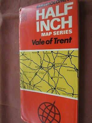 Bartholomew's Half inch  Road Map No 24 VALE OF TRENT  cloth 1970