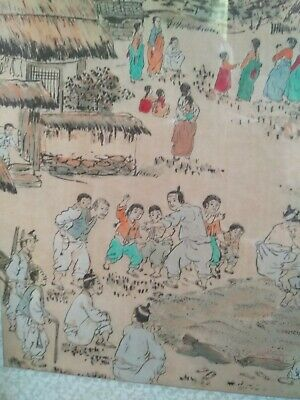 Old Chinese painting, signed, framed