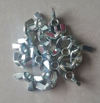 25 x M10 WING/BUTTERFLY NUTS - ZINC PLATED -  TO FIT BOLTS & SCREWS