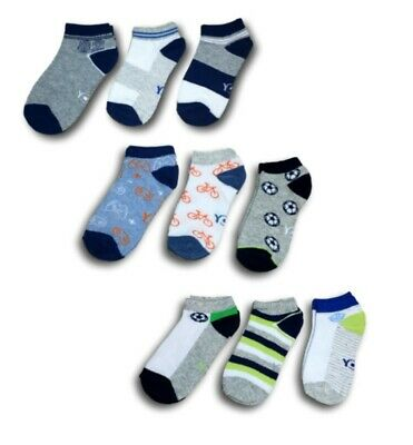 Boys Children Kids Cotton Short Summer Soft Trainer Socks 3 Pairs UK 9-13 Kids