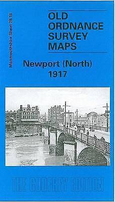 OLD ORDNANCE SURVEY MAP Newport North 1917: Monmouthshire Sheet 28.16