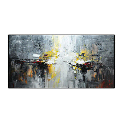 VV529 Modern Large Hand-painted Abstract landscape oil painting on canvas 48''