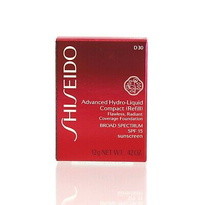 Shiseido Advanced Hydro-Liquid Compact Foundation Refill D30 0.42 Oz-New in box