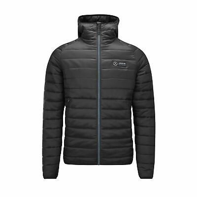 2019 Mercedes-AMG Official F1 Mens Lightweight Padded Jacket Coat with Hood