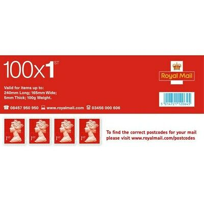 100 Royal Mail 1st Class Stamps