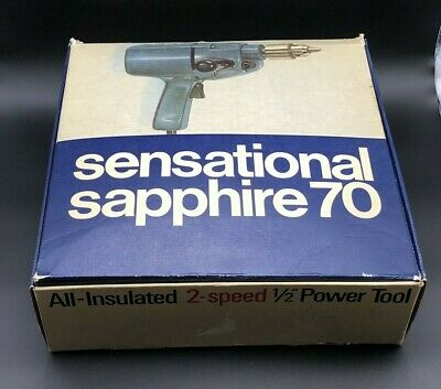 Vintage Retro Wolf Sapphire 70 Drill 2 Speed 13mm Power Tool Boxed with Manuals