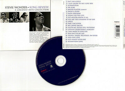 """STEVIE WONDER """"Song Review - A Greatest Hits Collection"""" (CD) 21 Titres 1996"""