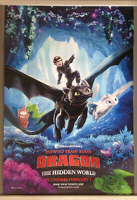 Cinema Poster How To Train Your Dragon The Hidden World 2019 Point One Sheet 12 95 Picclick Uk