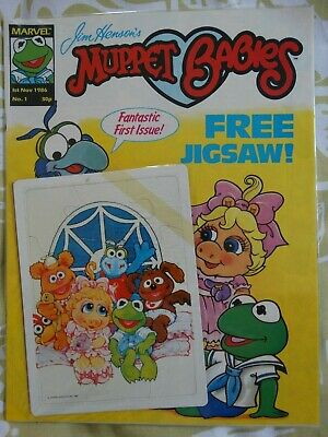 Marvel UK Muppet Babies #1 (NM) COMPLETE WITH FREE GIFT (1986)