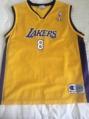 98e9225ad06 Los Angeles Lakers NBA Kobe Bryant  8 Vintage Champion Authentic Jersey XL