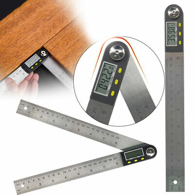 200mm Digital Angle Finder Ruler Protractor Measure Meter Plastic Tool Y6U2E
