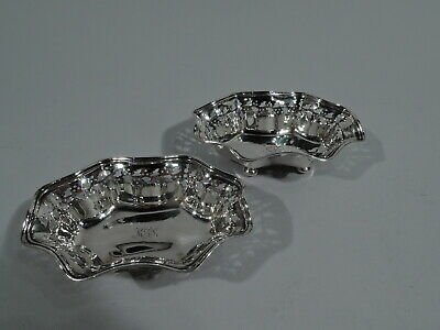 Tiffany Nut Dishes - 17103 - Antique Edwardian Bowls - American Sterling Silver