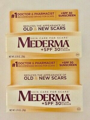 2 MEDERMA Scar SPF30 Creams SEALED .70 oz each Exp. 12/2019 Or Better 2 ITEMS