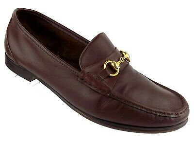 274a16a10 Bill Blass Mens Slip On Loafer Shoes Sz 12W Brown Leather Moc Toe Horsebit  Italy