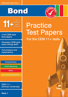11+ Eleven Plus CEM Bond Test Papers (Mock Exams) (Electronic) Pack 1