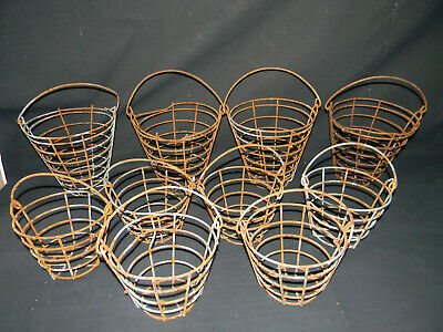 10 vintage metal baskets Kitchen Garden golf ball golfing wire rusty