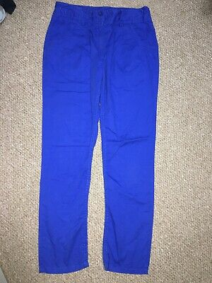 BUNDLE Next Bright Blue & Stone Coloured Cotton Jeans Girls Age 13 *Lot Of Two*
