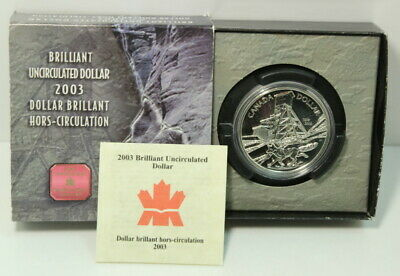 Canada 2003 100th Anniversary of Cobalt Strike Silver $1 Coin by RCM - BU