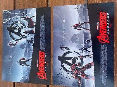 "AVENGERS ENDGAME WEEK 1 AND WEEK 2 AMC IMAX MINI POSTERS 11"" x 15.5 "" BRAND NEW"