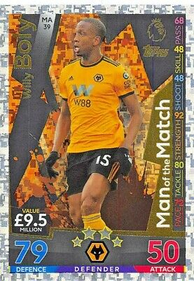 Match Attax Extra 2018/19 Willy Boly Man Of The Match Ma39 Mint