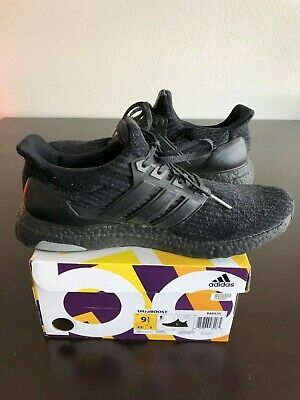 294767ad4 NEW ADIDAS PURE BOOST Men Size US 9.5 BB6288 Triple Black Ultra ...