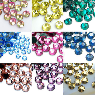 1440pcs(10 Gross) Czech Crystal Rhinestones Flatback Hotfix Rhinestoes