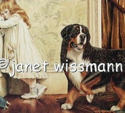 "PAINTING ART PRINT Bernese Mountain Dog ""A Special Pleader"" - New, FromTheArtist"