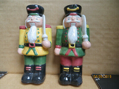 "Ceramic ""Soldier Nutcracker"" Castle Guards style Salt / Pepper Shakers....."