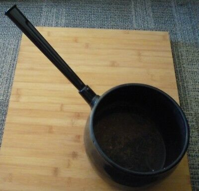 Antique Black Cast Iron C W S Dudley Saucepan 8 pints No.7 Ornamental Plants Etc