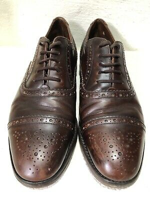 Vintage Men's LOAKE  Handmade Leather Brogues Shoes Size 7