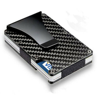 RFID Blocking Metal Wallet Minimalist Wallets Credit card Holders Money Clips