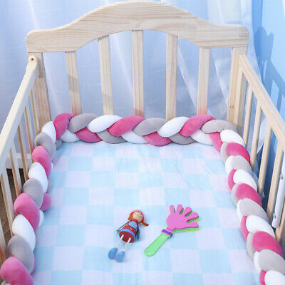 Baby Bed Bumper Soft Pure Plush Baby Crib Protector For Newborn Baby Room Decor