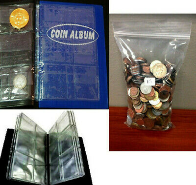 Premier Coin Album + 50 Different Countries Old Foreign World Coins 1960-99 lot