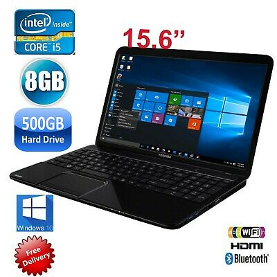"Toshiba Satellite L850 i5-3210 2.5GHz 8GB 500GB HD Graphics-15.6"" Laptop Win10"