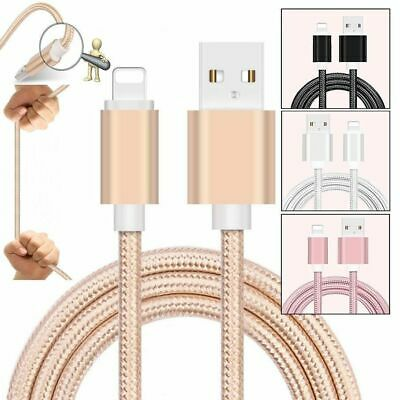 Long Braided USB Quick Charger Data Charging Cable Lead For iPhone SE-5-6-7-8-XR
