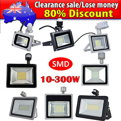 10W 20W 30W 50W 100W PIR Motion Sensor LED Flood Light Outdoor Spotlight 240V
