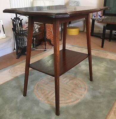 Antique mahogany hall table with shelf under (ref 18.6.058)