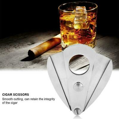 Stainless Steel Pocket Cigar Cutter Double Blades Scissors Guillotine Cigar Tool