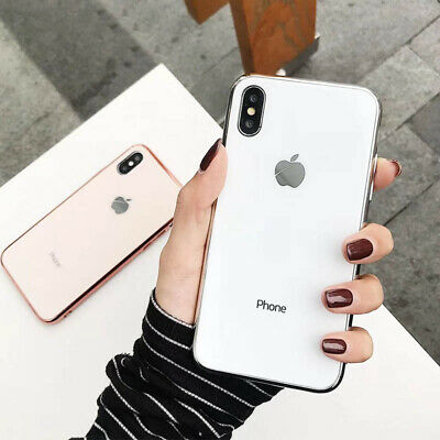 Slim Back Cover Anti-drop Plating Mirror Original Case for IPhone Cover 7 8 X XS