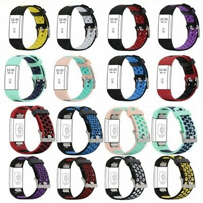 Soft Silicone Replacement Spare Sport Band Bracelet Strap for Fitbit Charge 2 Ke