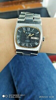 Automatic watches SLAVA-2427 vintage Russian USSR watches. Calendar day, date.