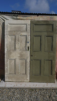 XPD22 (67 1/4 x 82) Reclaimed Pair of Old External Pitch Pine Period Doors