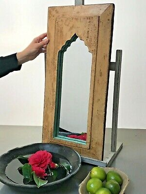 Antique Vintage Indian Mirror.  Large Mughal Arch Temple Mirror.
