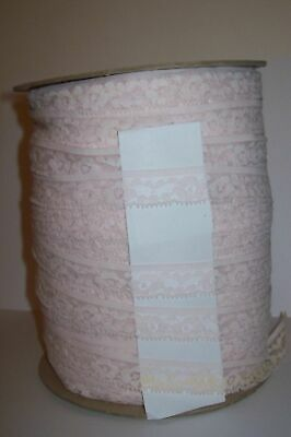 "Extra Large Reel of Baby Pink Lace 3/4"" wide 320 yards UK SELLER"